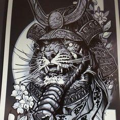 Tiger samurai design