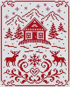 scandinavian cross stitch patterns free - Google Search