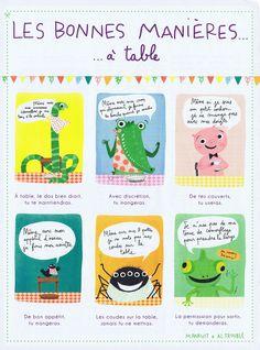 Les bonnes manières à table