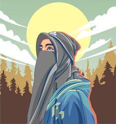 Cute Girl Poses, Cute Girl Pic, Girl Cartoon, Cartoon Art, Tmblr Girl, Character Art, Character Design, Hijab Drawing, Islamic Cartoon