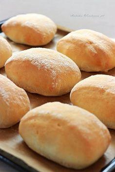 Arabeska : Bułeczki pszenne na jogurcie Pan Bread, Tart, Bakery, Rolls, Food And Drink, Veggies, Cooking Recipes, Yummy Food, Breads