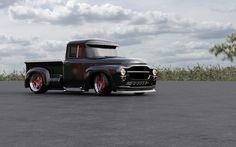 Custom pickup based on the Soviet truck ZIL model 130.