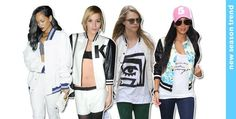 While Friday night football games and pep rallies in the high school cafeteria may be memories of the past, we're giving three cheers to old school varsity style. #newlookfashion #newlook #celebs #nldaiily #varsity #bomber #jackets