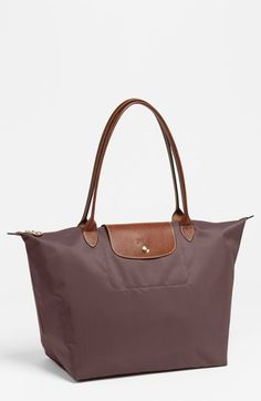 LONGCHAMP 'Large Le Pliage' Tote. #longchamp #bags #tote #leather #lining #shoulder bags #hand bags #nylon #