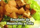 Ensalada de membrillo y tofu :: receta vegetariana