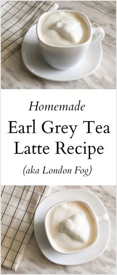 Homemade Earl Grey Tea Latte - London Fog Recipe Do you love a good Earl Grey Tea? If so, you have to try this simple and delcious Earl Grey Tea Latte, otherwise known as a London Fog. Yummy Drinks, Healthy Drinks, Yummy Food, Tasty, Milk Shakes, London Fog Recipe, Smoothies, Homemade Tea, Bon Dessert