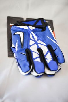 1e9a617bc New Nike Vapor Jet 2.0 Football Receiver Skill Gloves Blue   White ADULT  SIZE XL Football