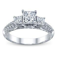 3 stone princess cut engagement ring.