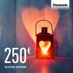 Und noch ein 250 € Gutschein für den Panasonic Online-Shop wartet auf einen glücklichen Gewinner! Pinnen und sich die Chance auf den Gewinn sichern. #Valentinstag @PanasonicDeutschland