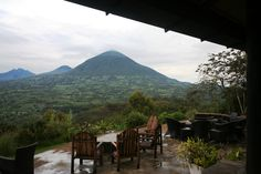 Breathtaking view of the Virunga mountains, Virunga Lodge, Volcanoes National Park, Rwanda. Photo by Jane and Jeremy Hoggett, safari by Journeys Discovering Africa. www.african-wildlife-safari.com
