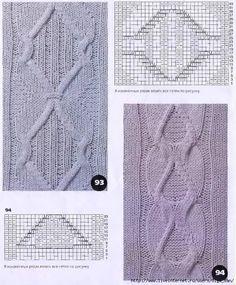 вязание спицами схемы узоров: 11 тыс изображений найдено в Яндекс.Картинках