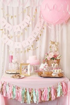 This gorgeous pastel hot air balloon birthday party was the perfect first birthday affair with a brunch menu and many darling DIY ideas.