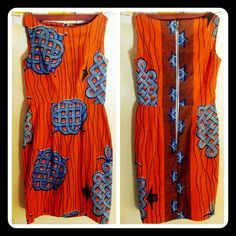 sally esposito dress in wax print fabric