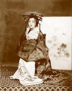 Art vintage japonais photographie, estampe japonaise de Geisha de Portrait de FINE ART, antique Japonais photographies anciennes, belles femmes, décor de mur