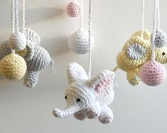 Baby gift sets crochet baby mobiles and toys von HOOKAshop auf Etsy Baby gift sets crochet baby mobiles and toys von HOOKAshop auf Etsy Crochet Baby Mobiles, Crochet Mobile, Crochet Toys, Handgemachtes Baby, Baby Lovey, Crochet Elephant, Elephant Baby, Baby Elefant, Baby Security Blanket