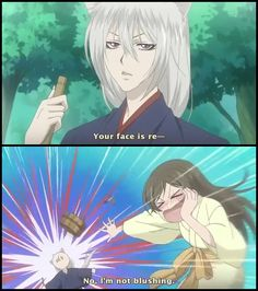 Kamisama Hajimemashita~ Aaaaaaaand BAM! LOL, I wish I could do this to the guy I like, too. XD