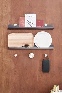 Harlem Shelf 1400  zavedo Powder Coat Colors, Black Shelves, Cafe Restaurant, Timeless Design, Bamboo Cutting Board, Shelving, Shelf, It Is Finished, Colours