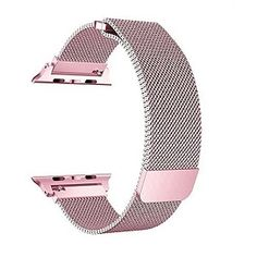 Bandx Milanese Loop Band for Apple Watch Steel Mesh Band with Magnetic Closure for iWatch Series 3 Series 2 Series 1 (Rose Pink Apple Watch バンド, Smart Watch Apple, Apple Watch Series 2, Apple Watch Bands, 1 Rose, Rose Gold, Hermes Watch, Apple Band, Mesh Band