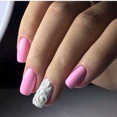 3d nails, Beautiful nails 2017, Dimension nails, Evening dress nails, Evening…