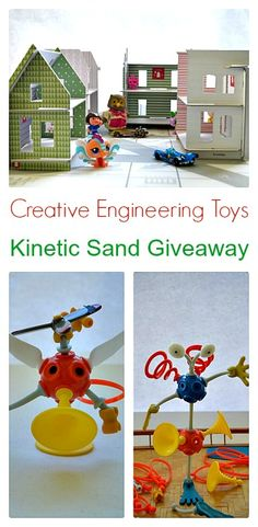 Creative Engineering toys for kids along with a KINETIC SAND (5 Kg) giveaway!