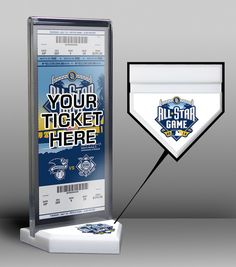 2016 MLB All-Star Game Home Plate Ticket Display Stand - San Diego Padres