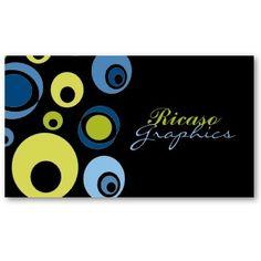 Retro Business Cards 19500 Card Templates CirclesBusiness CardsVisit CardsCarte De Visite