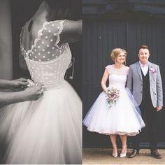 Vintage 1950 s Estilo Polca Pontilhada Vestido De Noiva Curto Chá de Comprimento Little White Vestidos 2015 Vestidos de Praia de Noiva vestidos de Novia vestido em Vestidos de noiva de Casamentos e Eventos no AliExpress.com | Alibaba Group