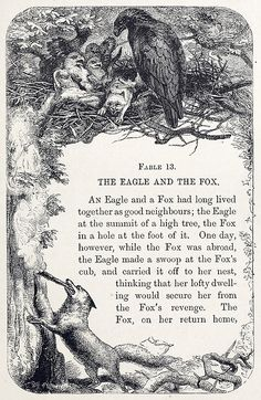 Book design layout inspiration. G. Wolf, from Aesop's fables, By Thomas james, London, 1882.