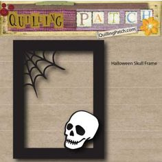 I do love frames! I love to use them with cards and they can really pop on a page as a big accent. I did up this frame using skull ( seen ALOT this Halloween). This frame is designed for 5x7 anythi...