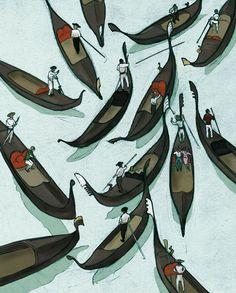 Finn Campbell Notman foliart.co.uk/finncampbellnotman #illustration #venice