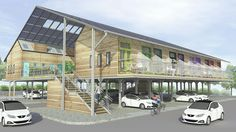 © ZED Factory British firm, Bill Dunster Architects, have always been committed to low carbon building and development. Now, their latest design named ZEDpod, is an idea to build affordable homes over existing parking [. Uk Housing, Social Housing, Affordable Prefab Homes, Oxford City, Architectural Services, Solar Installation, Park Homes, Sustainable Architecture, Landscape Architecture