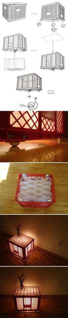 Mesa de caja de plástico frutera
