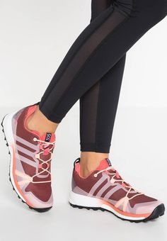 adidas Performance TERREX AGRAVIC GTX - Trail running shoes - tactile pink/haze coral/white for Free delivery for orders over Adidas Performance, Trail Running Shoes, Coral, High Tops, High Top Sneakers, Adidas Sneakers, Pink, Continental, Sports