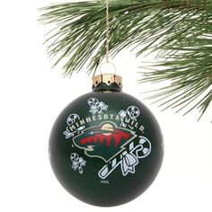 Minnesota Wild Candy Cane Traditional Ornament - Green