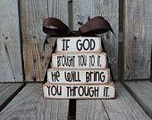 Faith Christian Religous Inspirational Wood Block Set Stacker personalized custom wood blocks primitive country gift