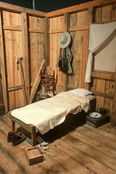 A recreation of a typical Civil War hospital. Beds were often dirty and bug-infested.