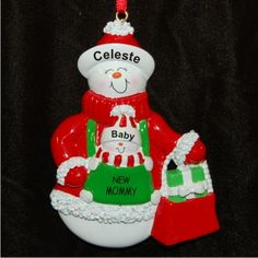 Expecting mom personalized first christmas ornament pregnant and