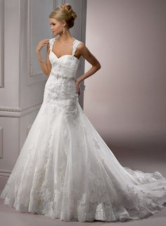 Maggie Sottero's Sarchi Gown...LOVE!! and the straps are also detachable.