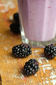 Something sweet for the evening? A blackberry shake.