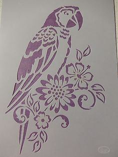 Stencil Animal, Stencil Painting, Fabric Painting, Stencil Patterns, Stencil Designs, Peacock Wall Art, Bird Template, Paper Art, Paper Crafts
