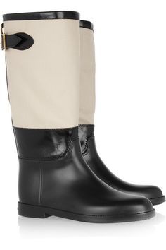 1ae7944a99fc Burberry Shoes   Accessories Rubber and waxed-canvas Wellington boots  Burberry Rain Boots