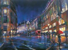 cool Michael Flohr  London Rain  Enhanced Giclee on Canvas Artist Proof S/N w/COA   Check more at http://harmonisproduction.com/michael-flohr-london-rain-enhanced-giclee-on-canvas-artist-proof-sn-wcoa/