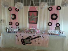 Diseño y decoración de eventos#sevilla# cumpleaños rock star# para niña de 11 años.