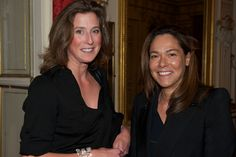 Marella Rossi & Andrea Lucas enjoying the Backes & Strauss and Waskoll cocktail party on April, 11th 2013 - British Ambassador Residence - Paris  For more information, visit www.backesandstrauss.com