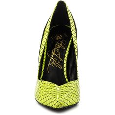 Lust For Life Women's Kommand - Citron Multi (€125) ❤ liked on Polyvore featuring shoes, pumps, high heel shoes, pointed toe stiletto pumps, pointed toe stilettos, high heeled footwear and stiletto high heel shoes