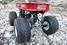 Lifted Radio Flyer Wagon with 4 link suspension