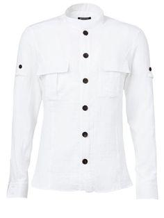 BALMAIN Ribbed Shirt. #balmain #cloth #shirt