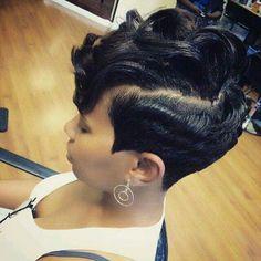 Short Sassy Haircuts, Short Bob Hairstyles, Short Hair Cuts, Girl Hairstyles, Short Hair Styles, Pixie Styles, Black Hairstyles, American Hairstyles, Pixie Cuts
