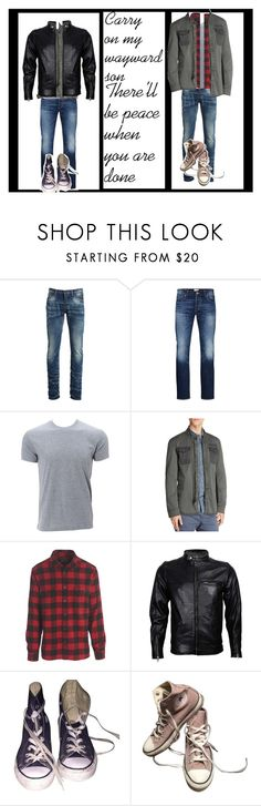 """""""Carry on my wayward son"""" by thin-mint on Polyvore featuring PRPS, Jack & Jones, Simplex Apparel, John Varvatos * U.S.A., Oxbow, VIPARO, Converse, men's fashion and menswear"""