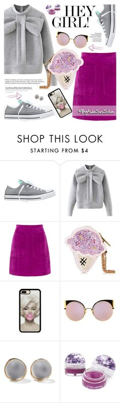 """Hey Girl!"" by aidasusisilva ❤ liked on Polyvore featuring Converse, WithChic, L.K.Bennett, Fendi, Alexis Bittar and Forever 21"